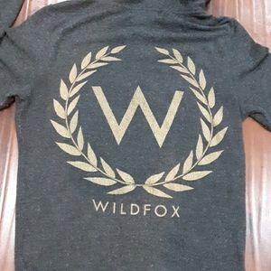 GORGEOUS WILDFOX HOODIE ZIPPER FRONT XS